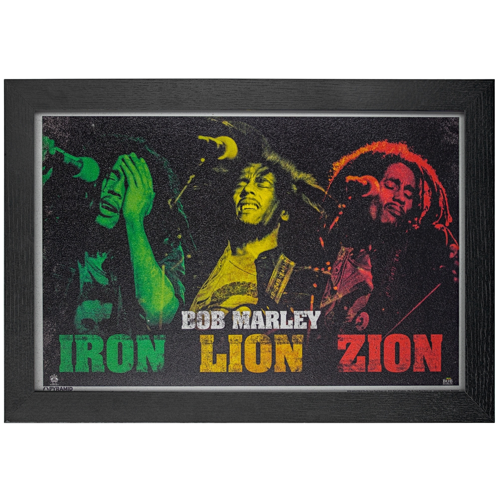 BOB MARLEY TYPOGRAPHY MUSIC REGGAE WALL ART PICTURE CANVAS PRINT READY TO HANG