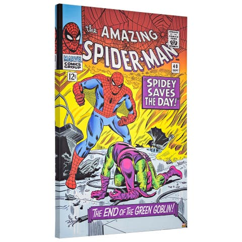 American Art Decor Licensed Marvel Comics Spider-Man 40 Canvas Art - multi-color
