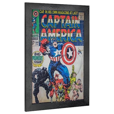 American Art Decor Licensed Marvel Comics Captain America 1 Wall Art - Multi-color
