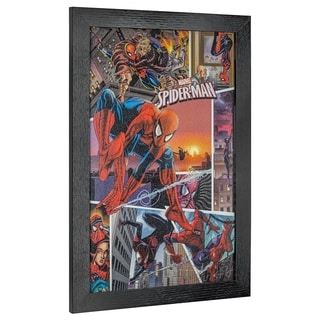 Link to American Art Decor Licensed Marvel Spider-Man Spider-Verse Cover Decor - Multi-color Similar Items in Art Prints