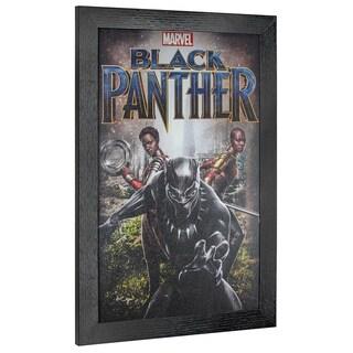 Link to American Art Decor Licensed Marvel Comics Black Panther Framed Art - Multi-color Similar Items in Art Prints