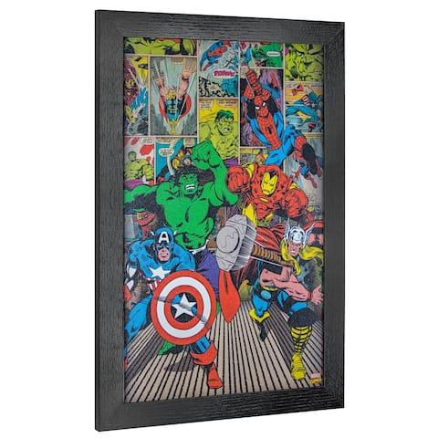 American Art Decor Licensed Marvel Comics Avengers Comic Book Wall Art - Multi-color
