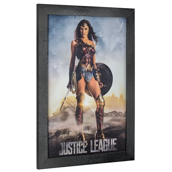 American Art Decor Licensed Justice League Wonder Woman Framed Art Multi Color Overstock 26234451