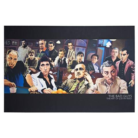 American Art Decor Licensed The Bad Guys Mafia Collage Canvas Wall Art - multi-color
