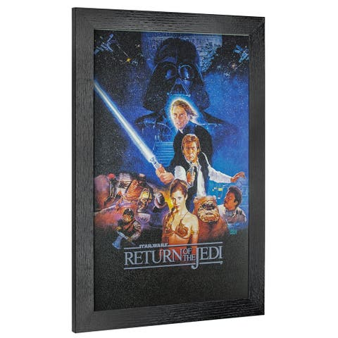 American Art Decor Licensed Star Wars Episode VI Framed Wall Art - Multi-color