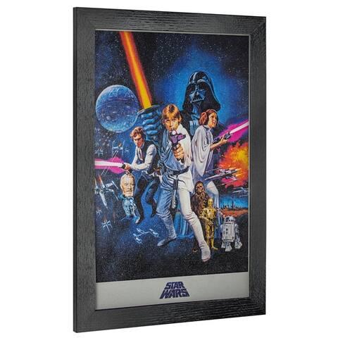 American Art Decor Licensed Star Wars Episode IV Framed Wall Art - Multi-color