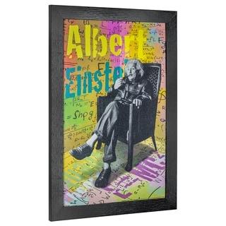 American Art Decor Albert Einstein Pop Art Framed Graphic Wall Art - Multi-color