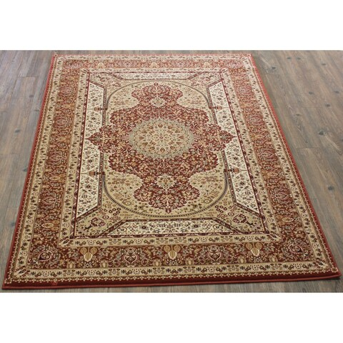 """Rose Beige 5x8 Traditional Rug - 5'4"""" x 7'5"""""""