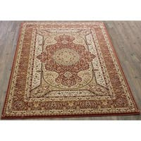 "Rose Beige 5x8 Traditional Rug - 5'4"" x 7'5"""