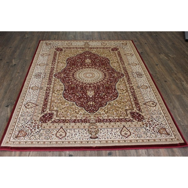 "Red 5x8 Traditional Rug - 5'4"" x 7'5"""