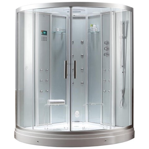 """Superior Steam Shower Sauna with Jetted jacuzzi Whirlpool Massage Bathtub Spa, Bluetooth, 12"""" Android Tablet TV"""