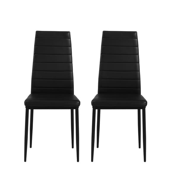 Shop Parson Faux Leather Upholstered Dining Chairs, 2 Pack