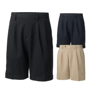 Cutter and Buck Twill Microfiber Pleated Golf Shorts