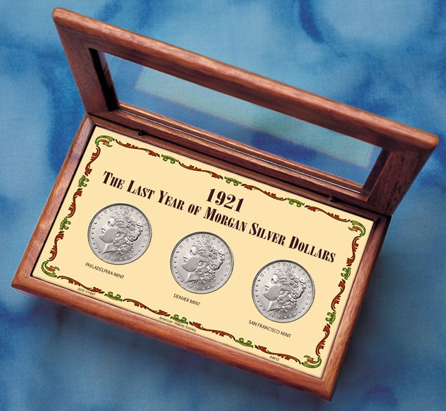 American Coin Treasures 1921 Last Year Morgan Silver Doll...