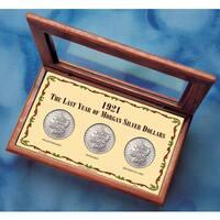 American Coin Treasures 1921 Last Year Morgan Silver Dollar Mint Mark Set