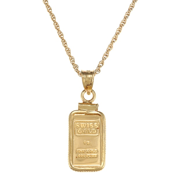 American coin treasures 1 gram gold ingot pendant necklace free american coin treasures 1 gram gold ingot pendant necklace aloadofball