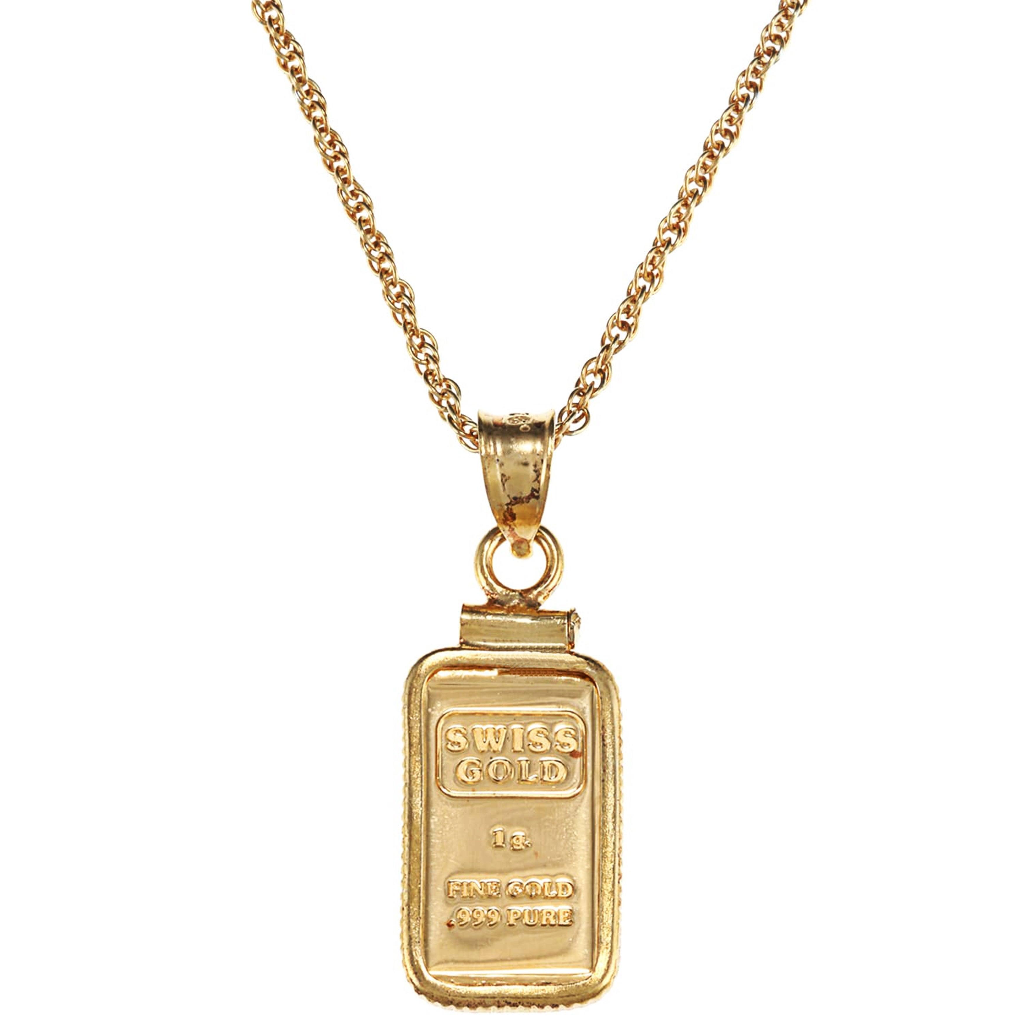 American coin treasures 1 gram gold ingot pendant necklace american coin treasures 1 gram gold ingot pendant necklace aloadofball Images