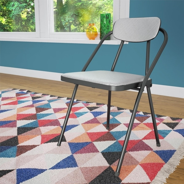 COSCO Stylaire Vinyl Padded Folding Chair (4-Pack). Opens flyout.