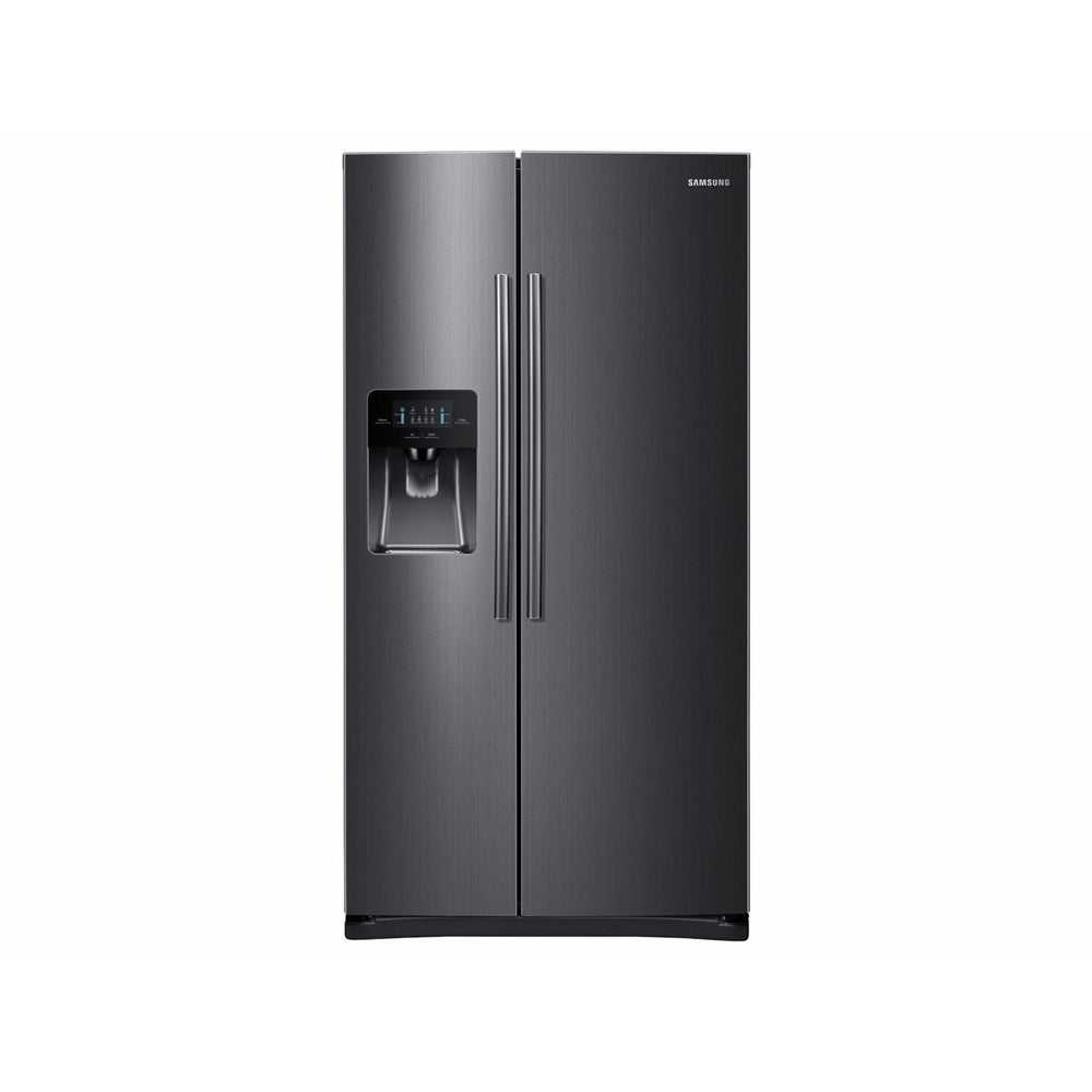 Samsung Appliances 24.5 cu. ft. Side-By-Side Refrigerator with In-Door Ice Maker (Black)