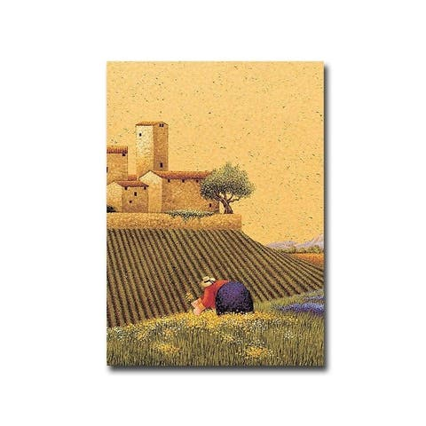 Picking a Bouquet by Lowell Herrero Gallery Wrapped Canvas Giclee Art (21 in x 15 in, Ready to Hang)