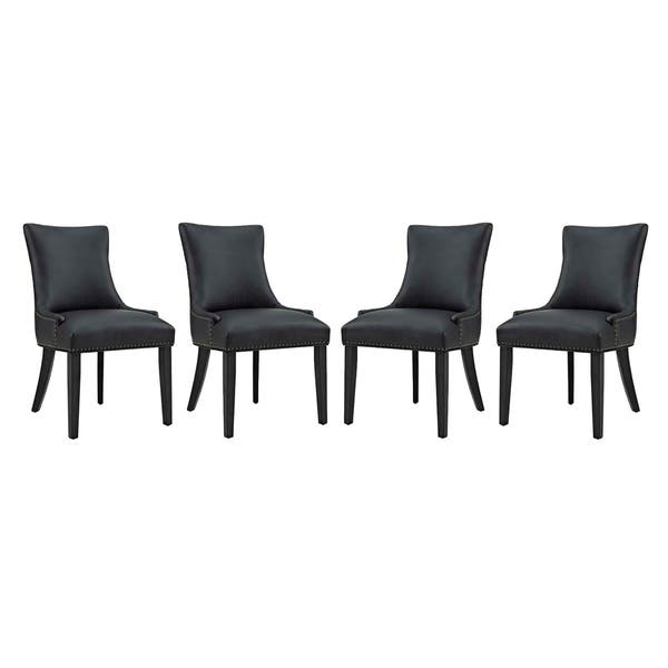 Fabulous Shop Marquis Dining Chair Faux Leather Set Of 4 On Sale Cjindustries Chair Design For Home Cjindustriesco