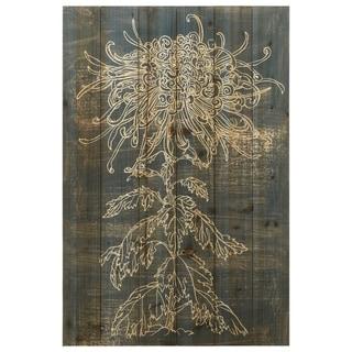 "Empire Art Direct ""Indigo Dance"" Arte de Legno Digital Print on Solid Wood Wall Art - Grey"