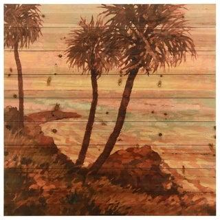 "Empire Art Direct ""Palm Breeze"" Arte de Legno Digital Print on Solid Wood Wall Art"