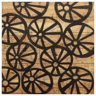 "Empire Art Direct ""Stone"" Arte de Legno Digital Print on Solid Wood Wall Art"