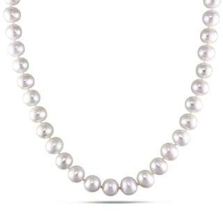 Miadora Cultured Freshwater Pearl Necklace with Silver Clasp (8-9 mm)