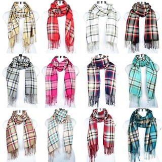 Women Plaid Winter Fashion Scarfs Neck Blanket Warm Scarves Shawl Wrap