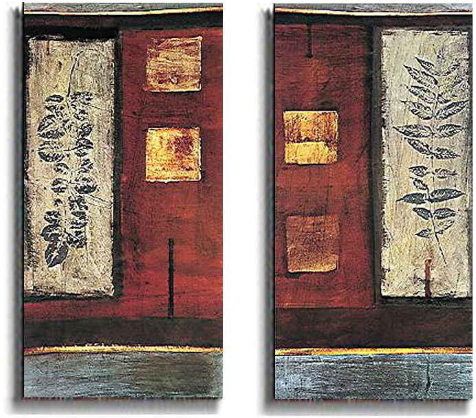 Paul Hargittai Earth and Fire Stretched Canvas Set - Thumbnail 1