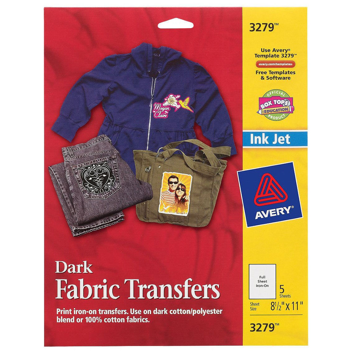 Avery Iron-on Transfer Paper (Personal Creations Dark T S...