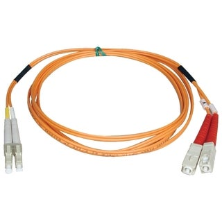 Tripp Lite 2M Duplex Multimode 50/125 Fiber Optic Patch Cable LC/SC 6