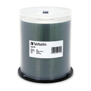 Verbatim CD-R 700MB 52X DataLifePlus Shiny Silver Silk Screen Printab
