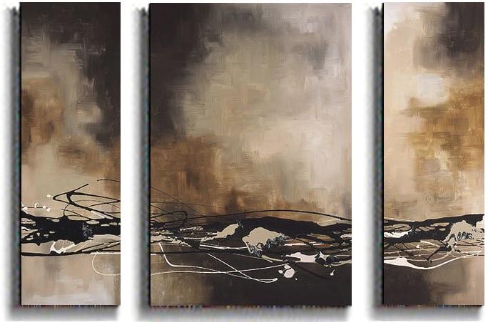 Maitland Tobacco & Chocolate 3-piece Canvas Set