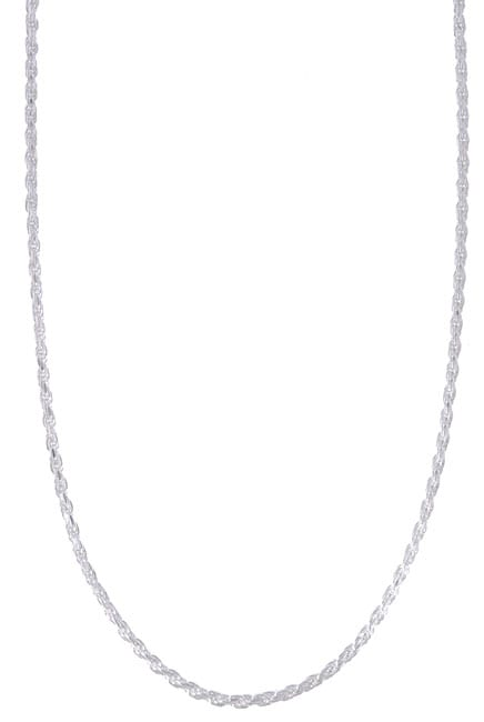 Sterling Essentials Sterling Silver 24-inch Diamond-Cut Rope Chain (1.8mm)