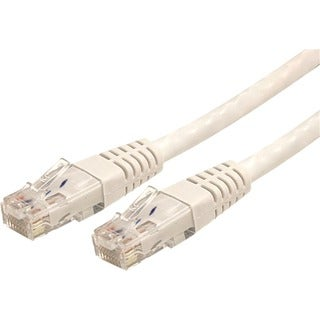 StarTech.com 100 ft White Molded Cat6 UTP Patch Cable - ETL Verified