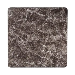 """Offex 36"""" Contemporary Square Gray Marble Laminate Table Top"""