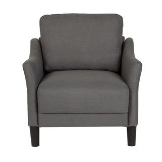 Offex Asti Contemporary Upholstered Chair in Dark Gray Fabric