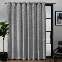 "ATI Home Forest Hill Patio Grommet Top Single Curtain Panel 108""x84"" in Dove Grey (As Is Item)"