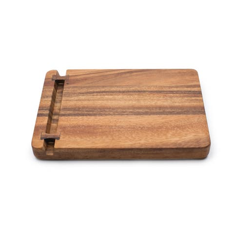 Ironwood Gourmet Cutting Board With Knife Holder, Acacia Wood