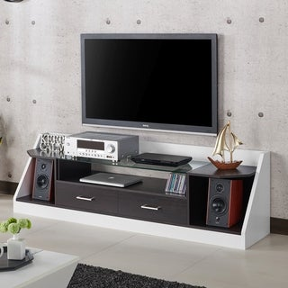 Furniture of America Kax Modern 70-inch Espresso 2-drawer TV Stand