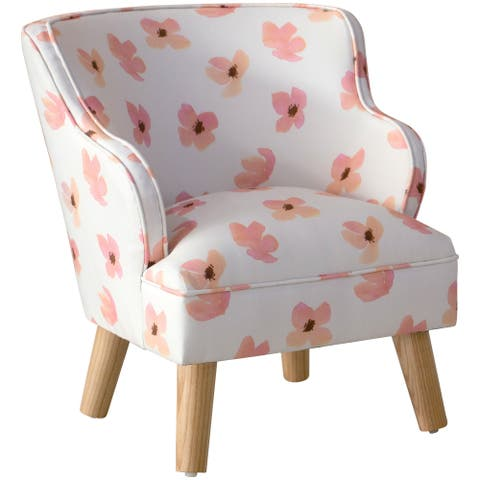 Skyline Furniture Kids Modern Chair in Floating Petals Pink