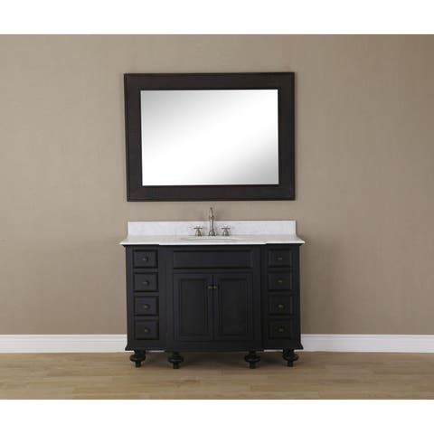 48 Inch Espresso Single Sink Bathroom Vanity From London Collection