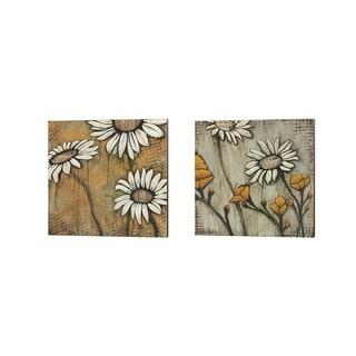 Kendra Runnels 'Daisies' Canvas Art (Set of 2)