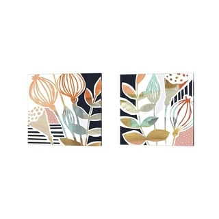 Victoria Borges 'Poppy Pods' Canvas Art (Set of 2)
