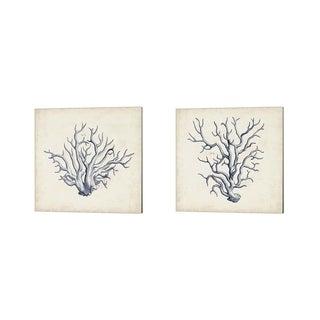 Vision Studio 'Coral Trio in Indigo' Canvas Art (Set of 2)
