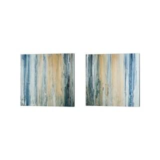Teodora Guererra 'Tiger Stripes' Canvas Art (Set of 2)