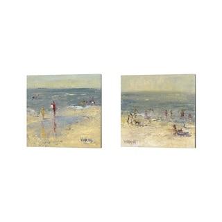Marilyn Wendling 'Impasto Beach Day' Canvas Art (Set of 2)