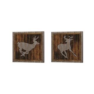 Cindy Jacobs 'Deer Running' Canvas Art (Set of 2)